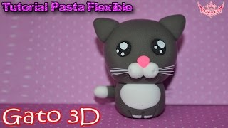 getlinkyoutube.com-♥ Tutorial: Gatito Kawaii en 3D de Pasta Flexible o Porcelana Fría ♥