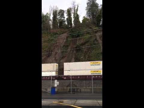 Landslide Derails Train. This is the ORIGINAL video
