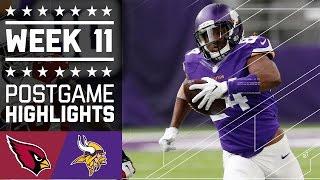 getlinkyoutube.com-Cardinals vs. Vikings   NFL Week 11 Game Highlights