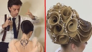 getlinkyoutube.com-Georgiy Kot: 7 Beautiful Hairstyles Design ●  Hairstyles Transformations