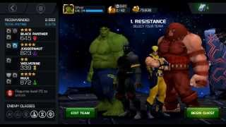 getlinkyoutube.com-Marvel Contest of Champions Act 2 Gameplay with 4 Star/Tier Juggerrnaut & Hulk