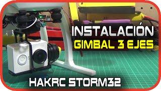 getlinkyoutube.com-Cheerson CX20: Instalar gimbal 3 ejes barato - Hakrc Storm32 en Español