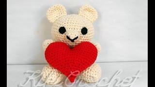 getlinkyoutube.com-Πλεκτο Αρκουδακι με Καρδια (μερος 1ο)