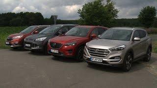 getlinkyoutube.com-Hyundai Tucson (2015) vs. Honda CR-V, Ford Kuga & Mazda CX-5