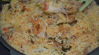 getlinkyoutube.com-Indian Muslim Prepared CHICKEN BIRYANI Restaurant Style & STREET FOOD