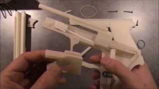 getlinkyoutube.com-3D Printed rubber band gun with blowback mechanism - SIG SAUER