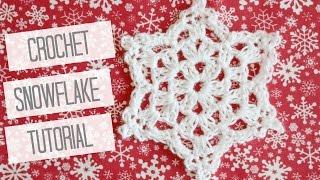 CROCHET: How to crochet a snowflake | Bella Coco