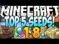 """Minecraft Seeds - """"TOP 5 Minecraft Seeds"""" (Minecraft 1.8) (Best Minecraft Seeds 1.8) - 2014"""