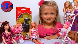 getlinkyoutube.com-✔ Кукла Штеффи и девочка Ярослава. Платье для подруги Барби / Steffi Doll. A dress for friend Barbie
