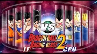 getlinkyoutube.com-Dragon Ball Z Raging Blast 2 - Team Gohan Vs. Team Vegeta (400th Video!)