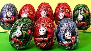 getlinkyoutube.com-Thomas the Tank Engine Surprise Eggs Holiday Edition Same as Kinder Easter Egg Surprise