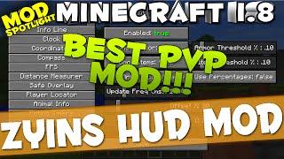 "getlinkyoutube.com-Minecraft Mod 1.8 : ""ZYINS Hud Mod"""