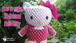 getlinkyoutube.com-How To Make 3D Origami Hello Kitty | DIY Hello Kitty Tutorials | Handmade Hello Kitty Gift