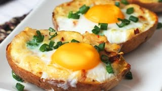 getlinkyoutube.com-Twice Baked Potato with Egg on Top