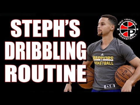 Steph Curry Dribbling Routine | Steph Curry Warm Up | Pro Training Basketball