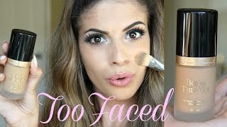 getlinkyoutube.com-NEW TooFaced Born this way Foundation FULL Review & Demo!