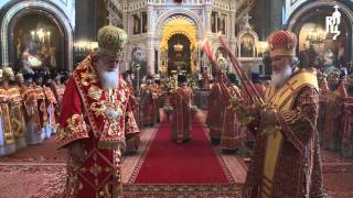 В день равноап. Мефодия и Кирилла Предстоятели Русской и Болгарской Церквей совершили Литургию