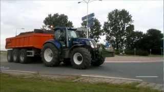 getlinkyoutube.com-New holland bluepower!!! and fendt tractors moving ground in hoek zvl