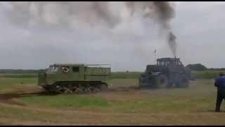 getlinkyoutube.com-Kirovets K 700 A versus AT-S Kirowez Kiroviec Tank Panzer ATS k700a Кировец К 700 К 701