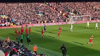 Celebrations after Emre Can's goal vs West Ham at Anfield 24/02/2018