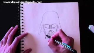 getlinkyoutube.com-Drawing Darth Vader with Paolo Morrone