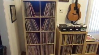 getlinkyoutube.com-Ikea Kallax for Vinyl Storage... on WHEELS