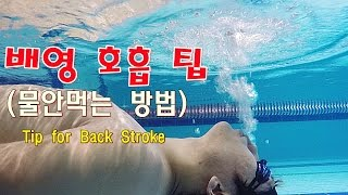 getlinkyoutube.com-수영강습 / (ENG) 배영 물안먹는방법 / How to breath without drinking water 생존수영