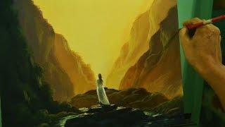 getlinkyoutube.com-Acrylic Painting Lesson | Waiting by JM Lisondra