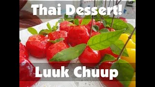 getlinkyoutube.com-Thai Dessert Recipe: Luuk Chuup! (Thai Mung Bean Marzipan)