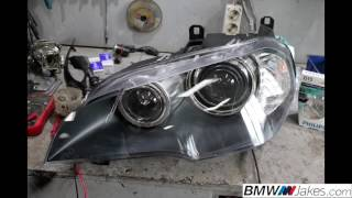 getlinkyoutube.com-Replacement of front headlight lens covers BMW X5 E70