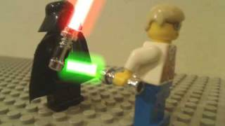 getlinkyoutube.com-LEGO Lightsaber Battle
