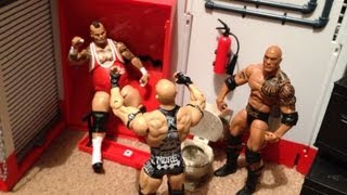 getlinkyoutube.com-GTS WRESTLING: Backstage Brawl! Steel Cage Match! Divas War Games! WWE figure matches animation