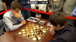 getlinkyoutube.com-♚ GM Magnus Carlsen vs GM Sergey Karjakin Chess Blitz Tal Memorial Round 6