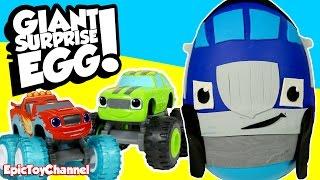 Blaze and the Monster Machines SURPRISE EGG 🎁 of Crusher + Disney Cars Toys & Blaze Monster Trucks