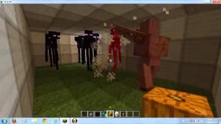getlinkyoutube.com-villager golem vs endermans minecraft