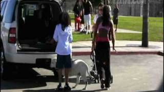 getlinkyoutube.com-Mel B. picks up her children from a day at the park with the nanny.