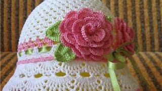 getlinkyoutube.com-Летние детские шляпы крючком. Summer Crocheted Baby Hats. Ամառային մանկական գլխարկներ հելունով