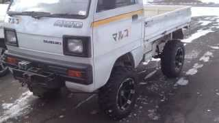 "getlinkyoutube.com-Suzuki Carry Japanese Mini Truck 6"" lift"