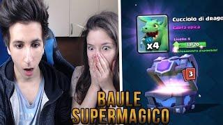 getlinkyoutube.com-LA MIA RAGAZZA APRE UN BAULE SUPERMAGICO! | CLASH ROYALE ITA