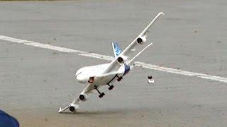 getlinkyoutube.com-RC AIRLINER CRASH !!! A-380 Airplane EPO EDF Jet Flight & Bad Landing Bölsdorf 2015