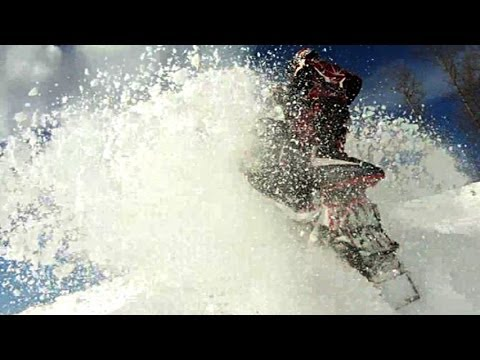 Snowmobile video. Snowmobile videos. Snowmobile drift banging, snowmobile drift jumping fun