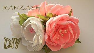 getlinkyoutube.com-🌺 Цветы на Торжество Своими Руками / Канзаши Мастер Класс / Kanzashi Master Class / DIY