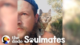 Guy Biking Across the World Picks Up a Stray Kitty | The Dodo Soulmates