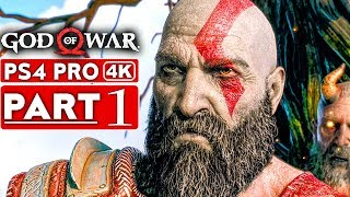 GOD OF WAR 4 Gameplay Walkthrough Part 1 [4K HD PS4 PRO] - No Commentary width=