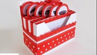 getlinkyoutube.com-Scrapbooking: Scatola porta ricette - Receipes Box