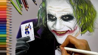 getlinkyoutube.com-Speed Drawing: The Joker - Heath Ledger | Jasmina Susak