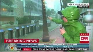 Reporting live in a hurricane is tough. Here's proof.