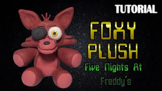 getlinkyoutube.com-Tutorial Peluche Foxy en Plastilina | FNaF | Foxy Push Clay Tutorial