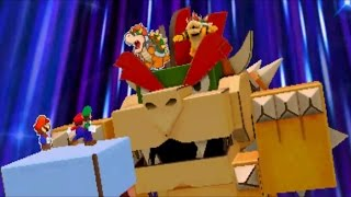 getlinkyoutube.com-Mario & Luigi: Paper Jam - Papercraft Bowser Boss Battle