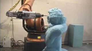 Sculpting a Large Bust of Bethoven